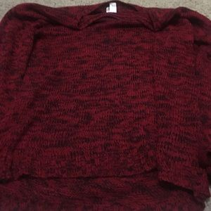 Crocheted red sweater